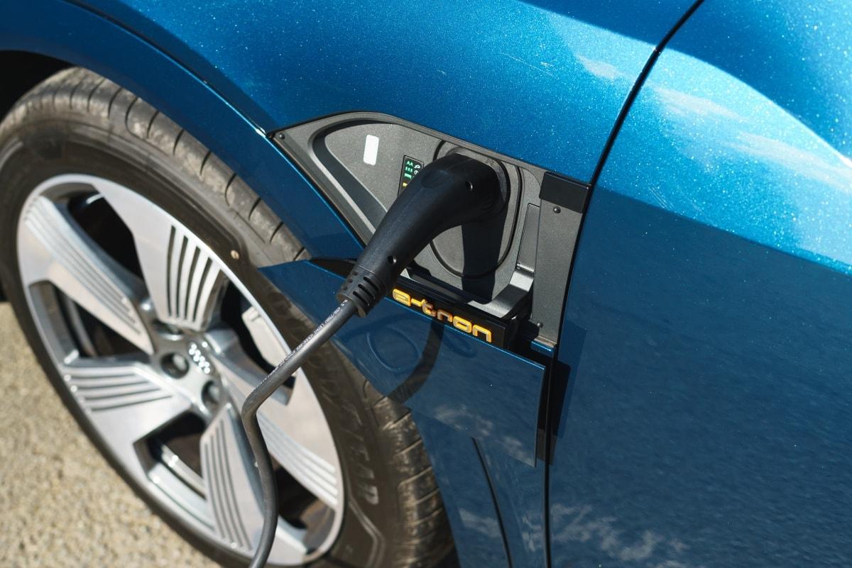 Audi e-tron charge socket